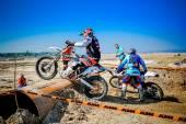 Red Bull 111 Mega Watt: Motocross and hard enduro race — Stock Photo