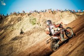 Red Bull 111 Mega Watt: Motocross and hard enduro race — Stock Photo