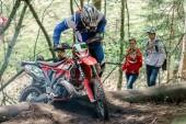Piloto de motocross na corrida Drapak rodeio — Fotografia Stock