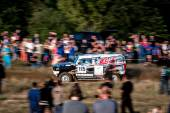 Lotto Baja Poland eight round of this year's FIA World Cup for Cross Country Rallies — Stock Photo