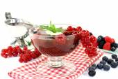 Red fruit jelly — Stock Photo