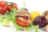 Shrimp burger — Stock Photo