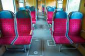 Interior of a modern train — Stock Photo