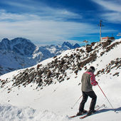 Mountains in snow — Stock Photo