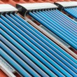 Vacuum collectors- solar water heating system — Stock Photo #59580879