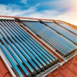 Vacuum collectors- solar water heating system — Stock Photo #59581481
