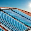 Vacuum collectors- solar water heating system — Stock Photo #75188007