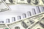 Деньги с концепцией диаграммы — Стоковое фото