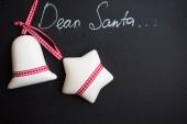 Dear Santa on a chalkboard — Stock Photo