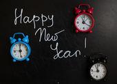 Szczęśliwego nowego roku na tablicy — Zdjęcie stockowe