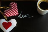 コーヒーと心 — ストック写真