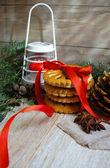 Zeit weihnachtsdekoration — Stockfoto