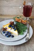 Blueberry pie — Stockfoto