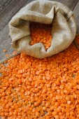 Red lentils — Stock Photo