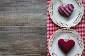 St. Valentine's festive table set — Stock Photo