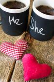 Valentines day tea — Stock Photo