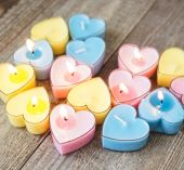 Candles for Valentine's Day — Φωτογραφία Αρχείου