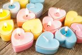 Candles for Valentine's Day — Stock Photo