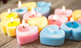 Candles for Valentine's Day — Stockfoto