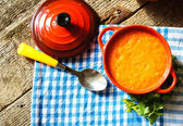 Healthy dinner, vegetable soup — Foto de Stock