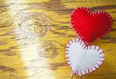 Heart-shaped decorations  — Stock Photo