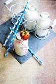 Strawbery yogurt — Stock Photo