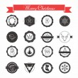Set of labels, designs, stickers and elements for Christmas — Stock Vector #53516079