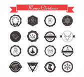 Set of labels, designs, stickers and elements for Christmas — Stock Vector