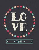 älska bakgrund - valentins dag-kort — Stockvektor