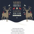Christmas greeting card, concept with deers — Stock Vector #58340073