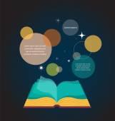 Open book concept design — Stok Vektör