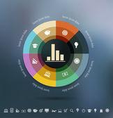Infographics background — Stockvector