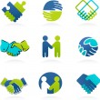 Collection of Handshake icons — Stock Vector #61288089