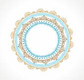 Tribal Bohemian Mandala background with round ornament pattern — Stock Vector