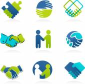 Collection of Handshake icons — Stock Vector