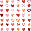 Heart Icons Set, hand drawn icons and illustrations for valentines day — Stock Vector #63486137