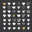 Heart Icons Set, hand drawn ions and illustrations for valentines day — Stock Vector #63486239
