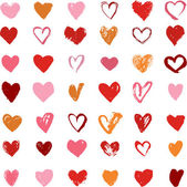 Heart Icons Set, hand drawn icons and illustrations for valentines day — Stock Vector