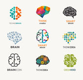 Collection of brain, creation, idea icons and elements — Stock Vector