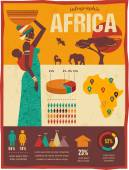 Africa - infographics and background — Vecteur