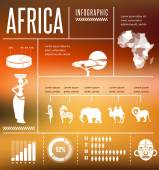 Africa - infographics and background — Stock Vector