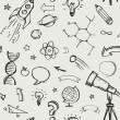 Education, science doodles - seamless pattern — Stock Vector #73193019