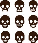Skull set, Mexican day of the dead — Stock Vector