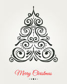Chalkboard, Vintage style, Christmas Tree — Stock Vector
