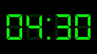 Digital clock full 24h time-lapse — Stock Video