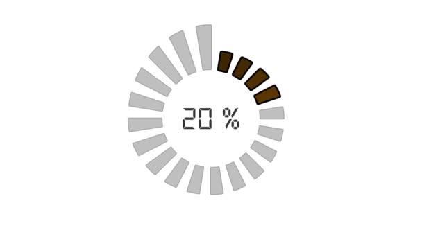 Barre de progression - modèle numérique, conception radiale, augmenter la taille et la couleur — Vidéo