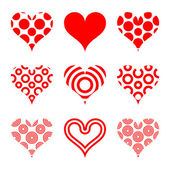 Heart shapes — Stock Vector