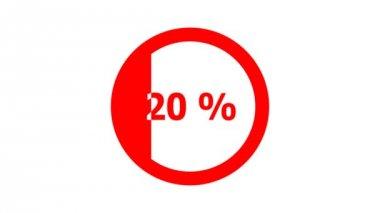 Circle progress bar - horizontal — 图库视频影像