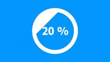 Circle downloading bar - diagonal downward — Stock Video