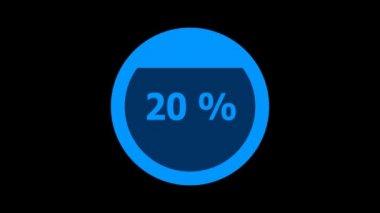 Circle downloading bar - vertical downward — Stok video